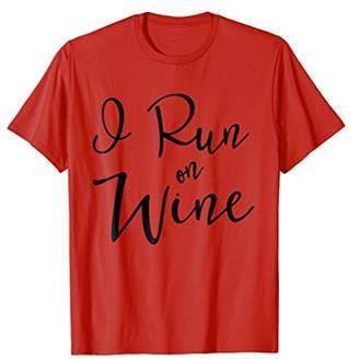Runners I Run On Wine T-Shirt Running For Vino Clothing