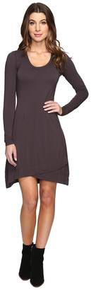 Mod-o-doc Cotton Modal Spandex Jersey Crossover Hem Dress Women's Dress