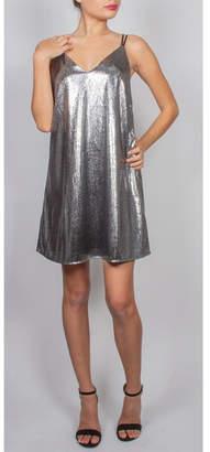 AAKAA Shimmer Mini-Shift Dress