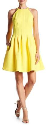 Vince Camuto Pleated Fit & Flare Dress