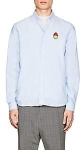 Ami Alexandre Mattiussi Men's Smiley-Patch Cotton Oxford Shirt - Lt. Blue