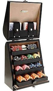 Barneys New York Texas Poker Game Set-Black