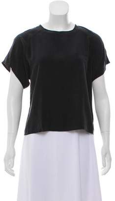 Band Of Outsiders Silk Short Sleeve Top