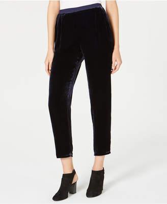 Eileen Fisher Velvet Relaxed-Fit Ankle Pants, Regular & Petite