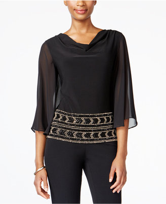 MSK Beaded Cowl-Neck Blouse $69 thestylecure.com