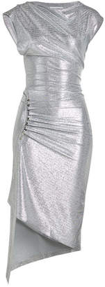Paco Rabanne Draped Metallic Dress with Snappers