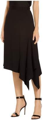 St. John Asymmetrical Circular Milano Knit Skirt