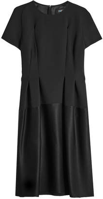 Paule Ka Crepe Midi Dress with Satin