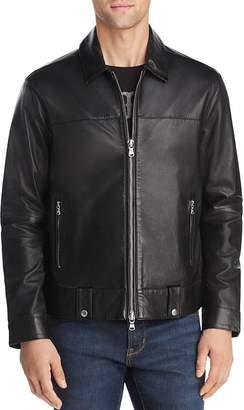 John Varvatos Marley Zip-Front Leather Jacket