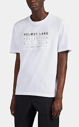 """Helmut Lang Men's """"Kollektioin"""" Logo Cotton T-Shirt - White"""