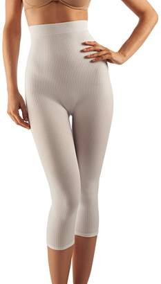 Farmacell 123 (, XXL) Women's high-Waisted Anti-Cellulite micromassage Capri Leggings
