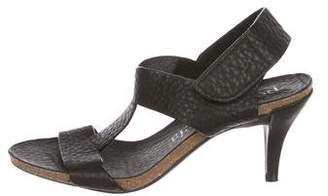 Pedro Garcia Leather T-Strap Sandals