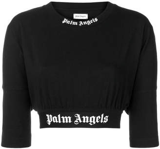 Palm Angels cropped jersey sweater