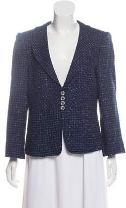 Armani Collezioni Structured Tweed Blazer