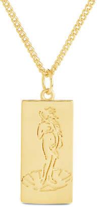Sterling Forever 14K Plated Venus Card Necklace