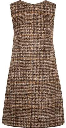 Dolce & Gabbana Checked Silk-Blend Mini Dress