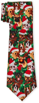 Knotty & Nice Green Music Dogs LED Christmas Tie