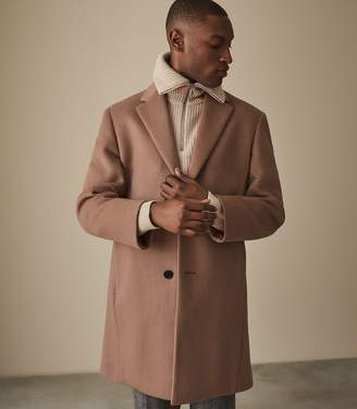 Reiss LONDON WOOL BLEND OVERCOAT Soft Pink