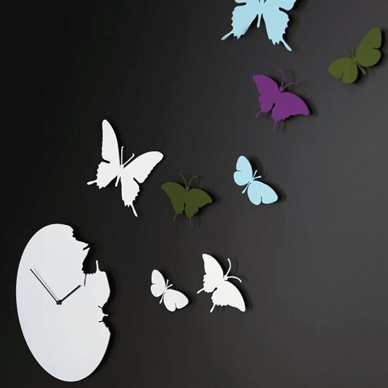 Diamantini Domeniconi - butterfly clock by diamantini & domeniconi
