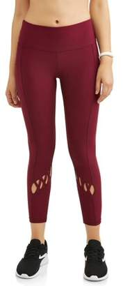 New York Laundry Womens Criss Cross Legging with Side Pockets (SIZES S-3X AVAILABLE)