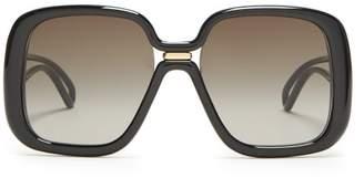Givenchy Oversized Square Frame Acetate Sunglasses - Womens - Black