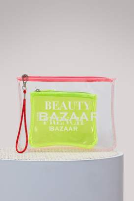 Kure BAZAAR Logo cosmetic bag