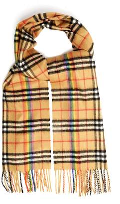 Burberry Classic Rainbow vintage check cashmere scarf