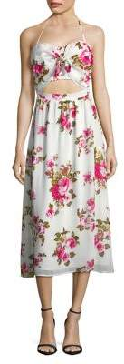 WAYF Floral-Print Halter Dress