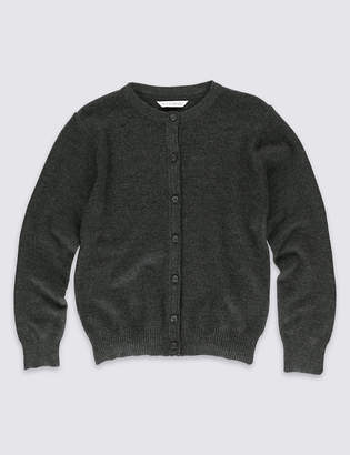 Marks and Spencer Girls' Wool Blend Cardigan