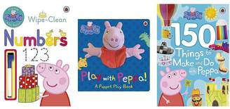 Peppa Pig Practise With Peppa: Wipe Clean Numbers, 150 Things To Do With Peppa, Play With Peppa Hand Puppet Book Bundle