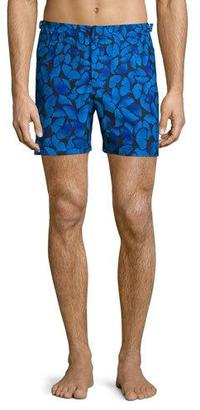 Orlebar Brown Bulldog Butterfly-Print Swim Trunks $315 thestylecure.com