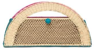 Sophie Anderson Xiomy Woven Straw Clutch