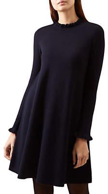 Hobbs Hilda Knitted Dress, Navy