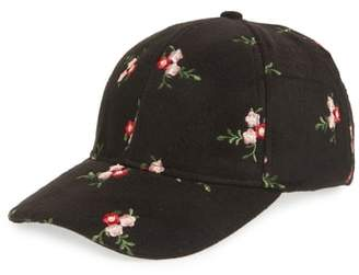 Collection XIIX Floral Embroidered Baseball Cap