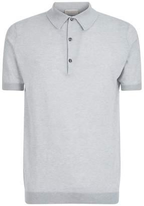John Smedley Cotton-Cashmere Polo Shirt