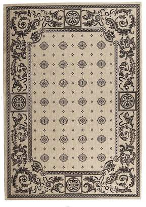 "Safavieh Courtyard Collection CY1356-3901 Sand and Black Indoor/ Outdoor Area Rug, 5 feet 3 inches by 7 feet 7 inches (5'3"" x 7'7"")"