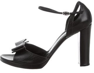 Casadei Leather Bow Pumps $95 thestylecure.com