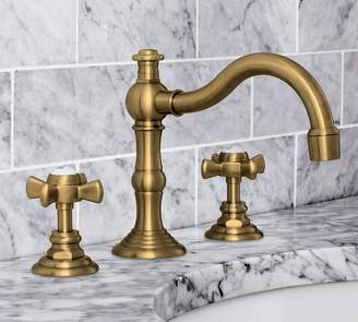 Pottery Barn Langford Cross-Handle Widespread Bathroom Faucet