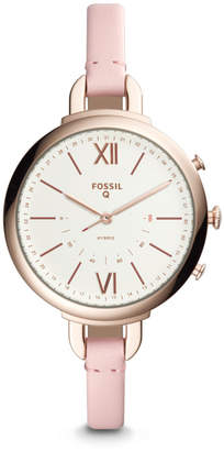 Fossil Hybrid Smartwatch - Q Annette Pink Leather