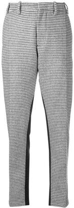 No.21 houndstooth print cropped trousers