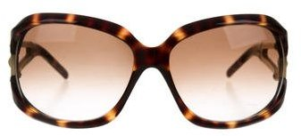 Jimmy Choo Jimmy Choo Tortoiseshell Marge Sunglasses