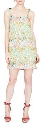 Rachel Roy April Printed Tie-Strap Crepe Mini Dress