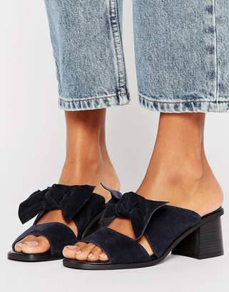 Asos TOULOUSE Suede Bow Mules