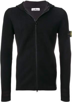 Stone Island knitted zip hoodie