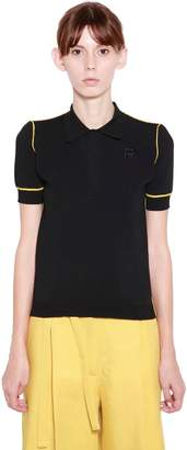 Rochas Viscose Knit Polo Shirt