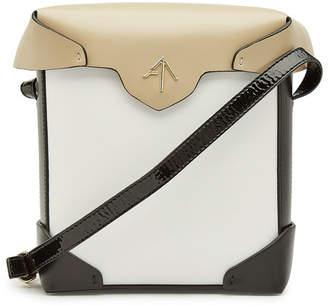 Atelier Manu Mini Pristine Cotton and Leather Shoulder Bag