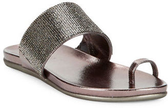 Kenneth Cole Reaction Slim Tricks2 Embellished Toe Ring Sandals $49 thestylecure.com