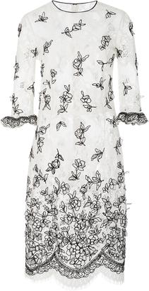 Oscar de la Renta Chevron Net Lace Cocktail Dress $4,490 thestylecure.com