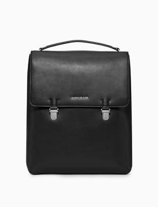 Calvin Klein smooth essentials logo flap backpack