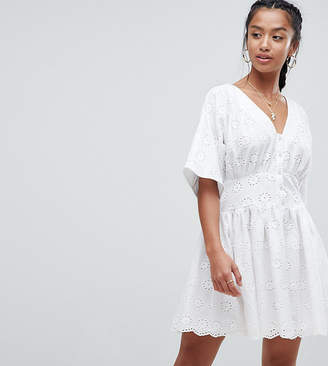 Asos Tea mini dress in Broderie